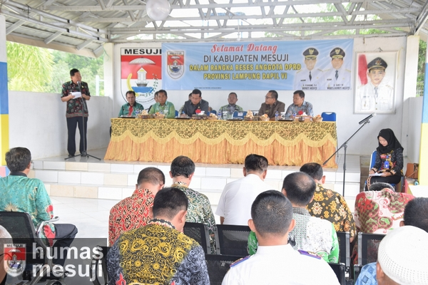 Wabup Mesuji Terima Kunjungan Reses DPRD Provinsi Lampung Dapil VI