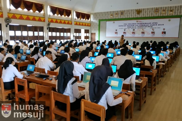 Sempat Molor, Pelaksanaan Tes SKD CPNS Mesuji Berjalan Lancar